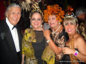 Baile do Copacabana Palace ao lado doícone do Colunismo social brasileiro, Hildegard Angel e esposo